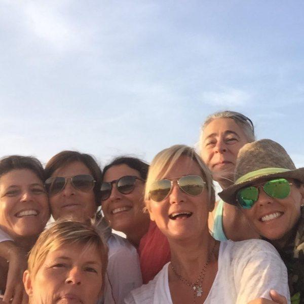 Selfie entre amies