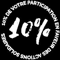 L'organisation de l'évènement permet de consacrer 10% du budget au financement d'actions solidaires en faveur des enfants atteints de cancer en France et au Maroc