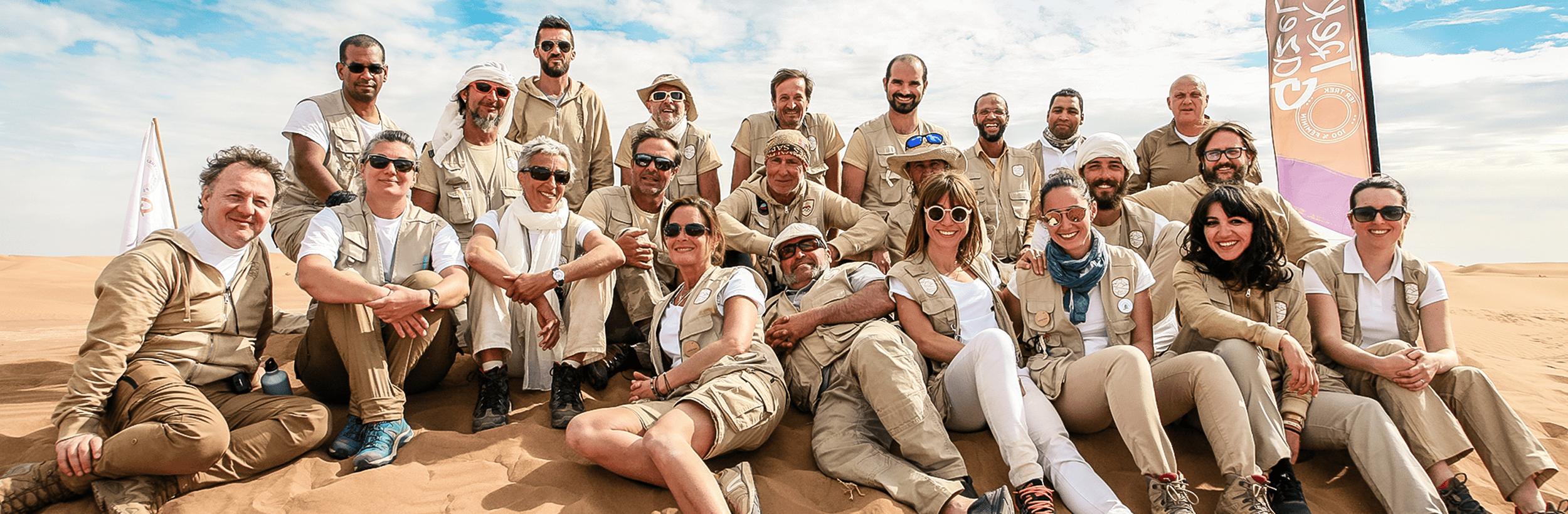 L'équipe organisatrice terrain du Trek des Gazelles, professionnelle et bienveillante avec ses gazelles.