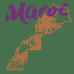 La carte du merveilleux pays qu'est le Maroc